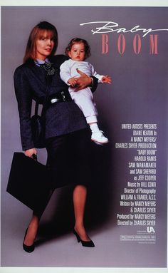 Baby Boom (1987)  PG  6.0  (I'd say 5.0)  The life of super-yuppie J.C. is thrown into turmoil when she inherits a baby from a distant relative.