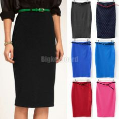 Fashion Womens Ladies High Waist Midi Bodycon Slim Pencel Tube Stretch Skirt Free Shipping-in Skirts from Apparel  Accessories on Aliexpres... !!!