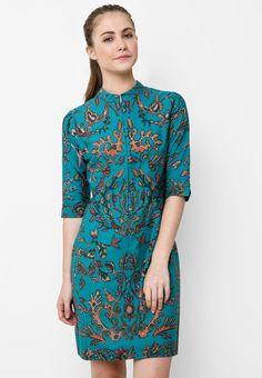 Batik Solo Mini Dress Pleat