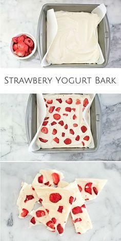 Gefrorener Joghurt mit Erdbeeren