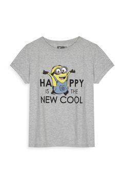 Primark - Camiseta gris «Happy» de Los Minions