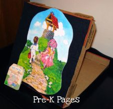 Cheap and Easy DIY Pizza Box Flannel Board for preschool and kindergarten
