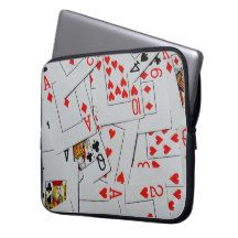 Deck_Of_Cards_Protective_15_Inch_Laptop_Sleeve. Laptop Computer Sleeve
