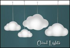 Credit: Gelina for original. Cloud Ceiling, Cloud Lamp, Ceiling Lights, The Sims, Sims 4 Mm Cc, Sims 1, Cloud Lights, Sims 4 Clothing, Sims House