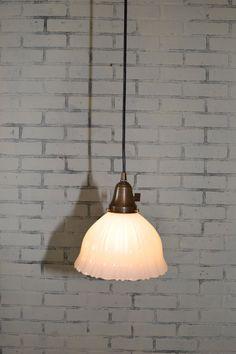 Vintage Milk Gl Pendant Light Lighting By Jknoxdesigns