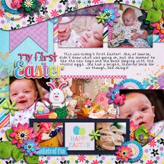 Digital Scrapbook Page by Britt | Some Bunny Special by Bella Gypsy