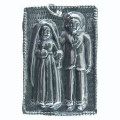 Sterling silver WEDDING COUPLE MILAGRO charm (M-149)