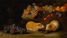 bimbi del bimbo, bartolomeo s Images Vintage, Italian Art, Guinea Pigs, Still Life, Oil On Canvas, Florence, Painting, Fruit, Animals