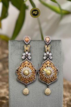 Bridal Earrings, Gemstone Earrings, Wedding Jewelry, Stud Earrings, Metal Jewelry, Diamond Jewelry, Beaded Jewelry, Unique Jewelry, Designer Jewelry