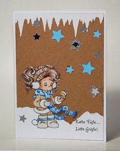 blog.karten-kunst.de - Jenny im Schnee. Wee Stamps Jenny