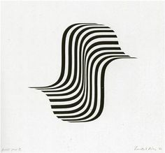 Untitled (Winged Curve) - Bridget Riley