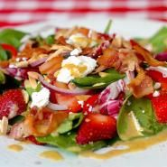 Strawberry Spinach Salad with Goat Cheese & Easy Honey Dijon Dressing