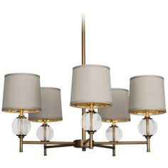 "Robert Abbey Latitude 31 1/4"" Wide Aged Brass #Chandelier #lighting #gold"