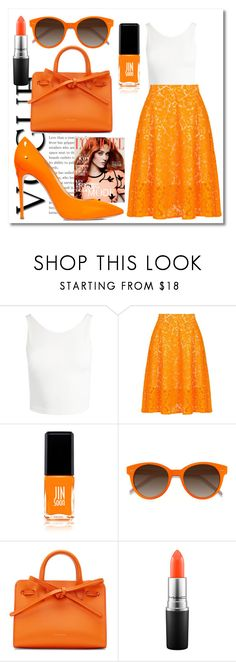 """""""Pencil skirt #3😉"""" by ellakatykat ❤ liked on Polyvore featuring Sans Souci, MSGM, JINsoon, EyeBuyDirect.com, Mansur Gavriel, MAC Cosmetics and Casadei"""