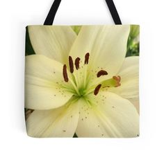 White Birthday Lilly Tote Bag