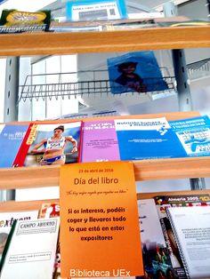 ACTIVIDADES para conmemorar el Día del Libro en la Biblioteca de la Facultad de CC del Deporte La actividad consiste en regalar revistas, libros, separatas , puntos de lectura relacionadas con el deporte y la salud. El objetivo es ir fomentando, entre los estudiantes del centro, la creación de sus propias bibliotecas, a la vez que proporcionarles información que pueda ser de su interés.