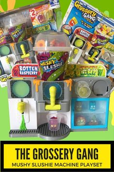 The Grossery Gang Mushy Slushy Machine Playset has a really cool Grossery Launcher and Mushy Slushie Dispenser! Includes 2 Exclusives too!: