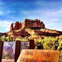 Cathedral Rock this morning.  We have a corporate group in house that hiked to the top to watch sunrise…getting their creative juices flowing! (at Sedona, AZ)
