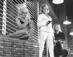 The girls from Goldfinger (1964). Shirley Eaton, Tania Mallet and Honor Blackman.
