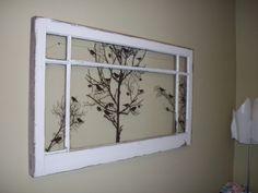 Antique window with velum wall stickers... my new headbaord :D