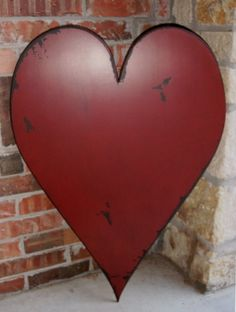 wooden heart--I totally want this