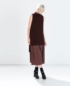 Image 1 of TURTLENECK VEST WITH SLITS from Zara