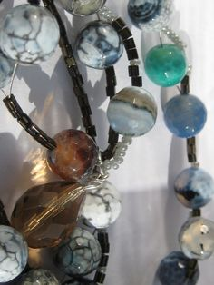 Gemstones Statement Pendant Agate Necklace by KBrownJewellery, £28.00