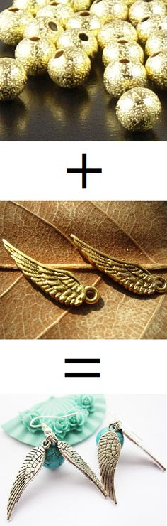 DIY  Harry Potter golden snitch earrings