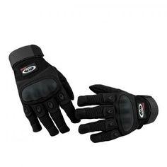 OUMILY al aire libre guantes tácticos del lleno-dedo - negro (talla M / par)