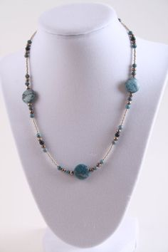 Short Laguna Turquoise Coin Necklace
