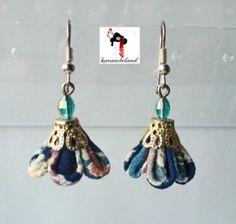 japanese fabric earrings kanzashiland