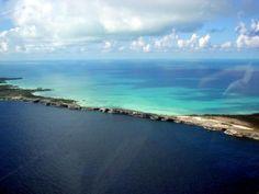 Glass Window Bridge, Eleuthera, Bahamas -- barrier between the Atlantic Sea and Caribbean Sea