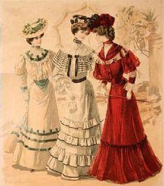 1904 Fashion Plate via the Bartos Collection 1900s Fashion, Edwardian Fashion, Vintage Fashion, Edwardian Era, Edwardian Clothing, Edwardian Dress, Victorian Era, Jeanne Lanvin, Mode Vintage