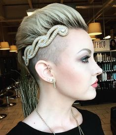 Pixie Undercut With Hair Jewelry