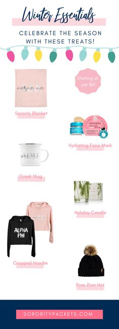 Winter Favorites: Spoil Your Sorority Sisters with These Cute Greek Gi – SororityPackets.com
