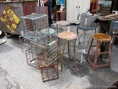 metal benches and stools nashville flea market