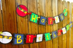 ninjago party banner by POPSnMORE on Etsy, $29.50