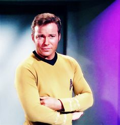 thespockyhorrorpictureshow:    carmelilla9:    Captain Kirk is not amused    but he is sexy.
