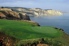 New Zealand ~ Cape Kidnappers Golf Course: Located in Hawke's Bay, this course made No. 10 on Golf Digest's list. Tom Doak was given a stunning piece of seaside property to work with, and he made the most of it. Cape Kidnappers is seaside golf at its finest. The course plays fast, and golfers will have to negotiate stiff ocean breezes coming off Hawke's Bay, several deep ravines and penal bunkers guarding many of the greens.