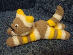 kreativny napad a navod Mačka z ponožky 1