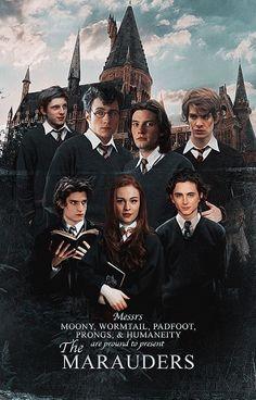 Posters Harry Potter, Harry Potter Artwork, Harry Potter Marauders, Harry Potter Tumblr, Harry Potter Jokes, Harry Potter Pictures, Harry Potter Cast, Marauders Era, Harry Potter Universal