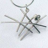 a. Handgemaakte hanger zilver: Mikado