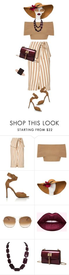 """striped skirt"" by natalyag ❤ liked on Polyvore featuring Rosie Assoulin, Blue Vanilla, Samuele Failli, Chloé and Lord & Taylor"