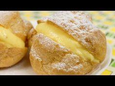 Choux Creme (Cream Puffs) Recipe シュークリーム 作り方レシピ - YouTube