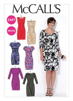 Mccalls Sewing Patterns, Simplicity Sewing Patterns, Clothing Patterns, Dress Patterns, Miss Dress, Schneider, Petite Dresses, Sewing Clothes, Simple Dresses