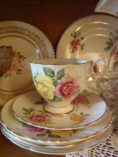 Gorgeous china and teacup!