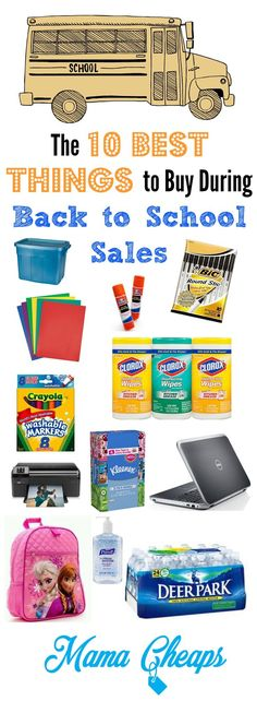 Be sure you round up these Must Buy Items - back to school sales serve up the best prices of the year on these products! Find more great Back to School Deals and tips on MamaCheaps.com!
