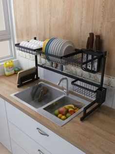 50 Best Small Kitchen Storage Ideas For Awesome Kitchen Organization 02 Diy Kitchen Storage, Home Decor Kitchen, Kitchen Organization, Kitchen Furniture, Kitchen Interior, Home Kitchens, Diy Home Decor, Furniture Design, Organization Ideas