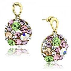 eb12ea15d NA3659ZGOC Farebné náušnice z chirurgickej ocele so zirkónmi #earrings # nausnice #supersperky #krasnesperky #color #farebnesperky #rainbow  #ocelovenausnice ...