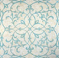 Marabel, a jewel glass mosaic shown in Aquamarine and Quartz | New Ravenna